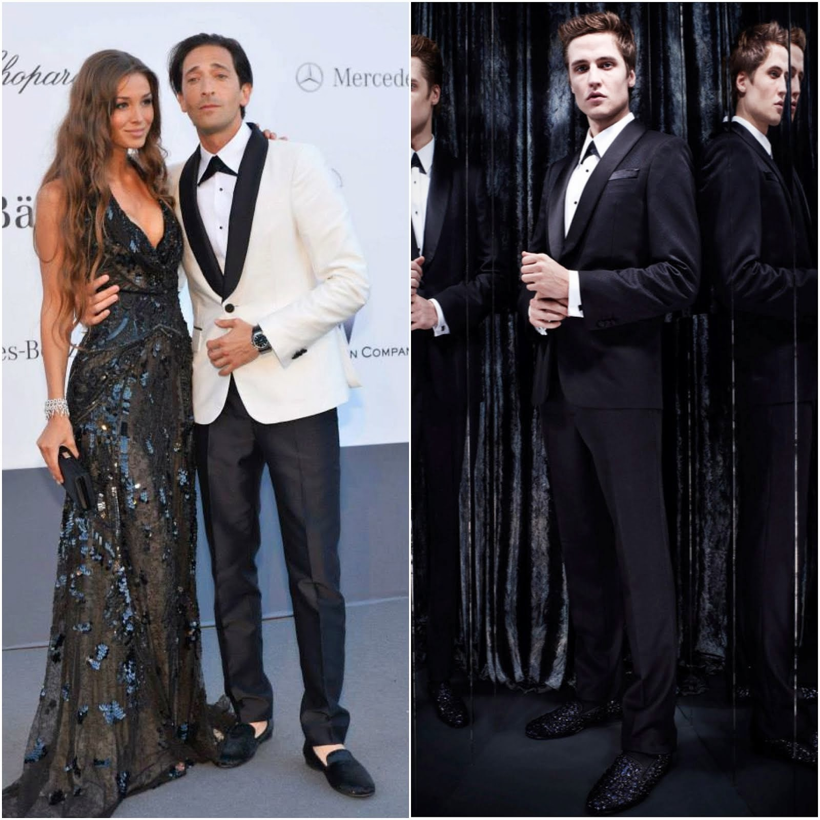 00O00 Menswear Blog: Adrien Brody in Roberto Cavalli - amfAR's Cinema Against AIDS Gala 2013