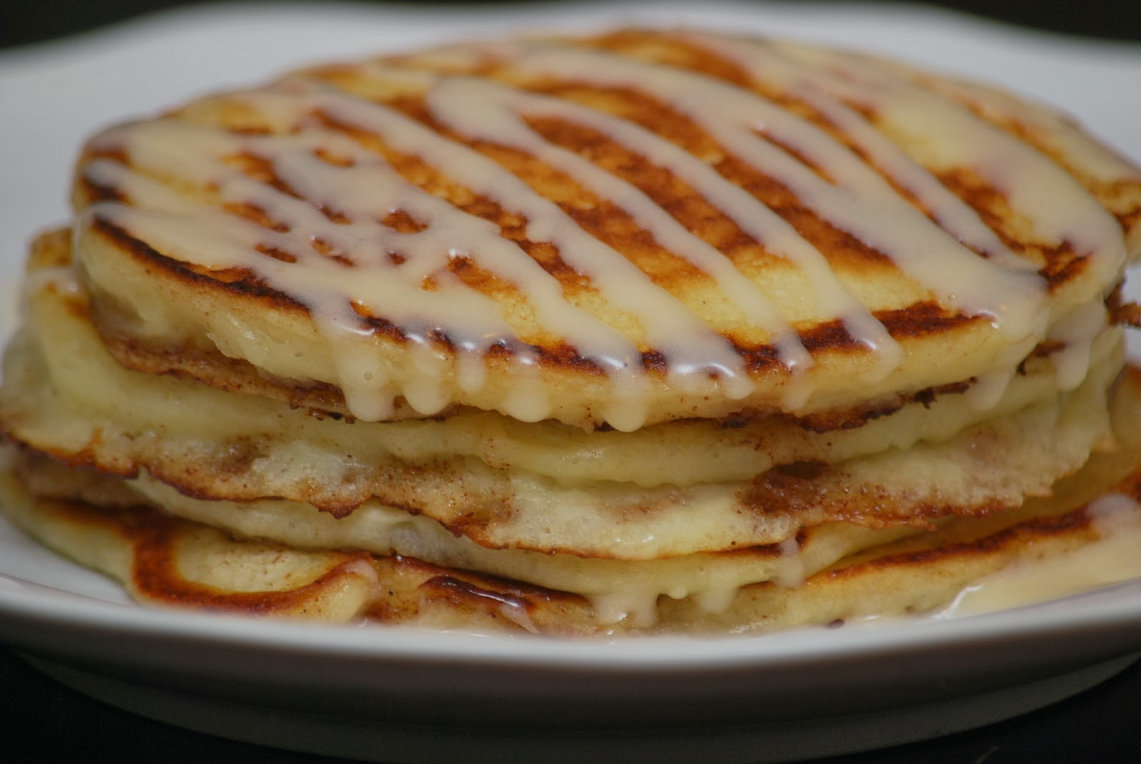 My story in recipes: Cinnamon Roll Pancakes