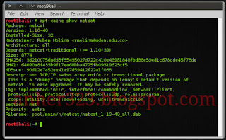 apt-cache show namapaket