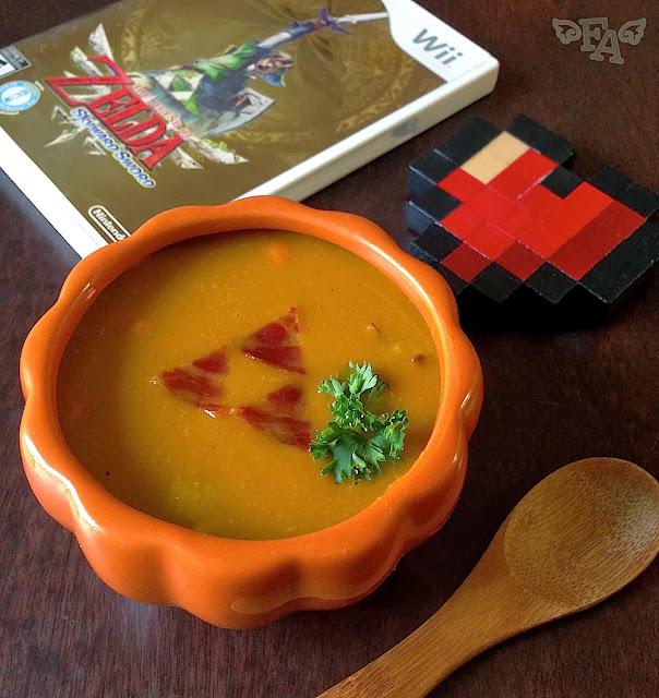 Fiction food caf pumpkin soup from the legend of zelda for Cuisine zelda