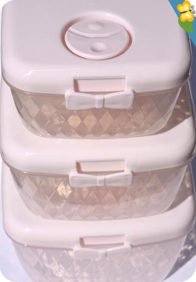 Boîtes de conservation ou rangement roses à nœud papillon par Miss étoile