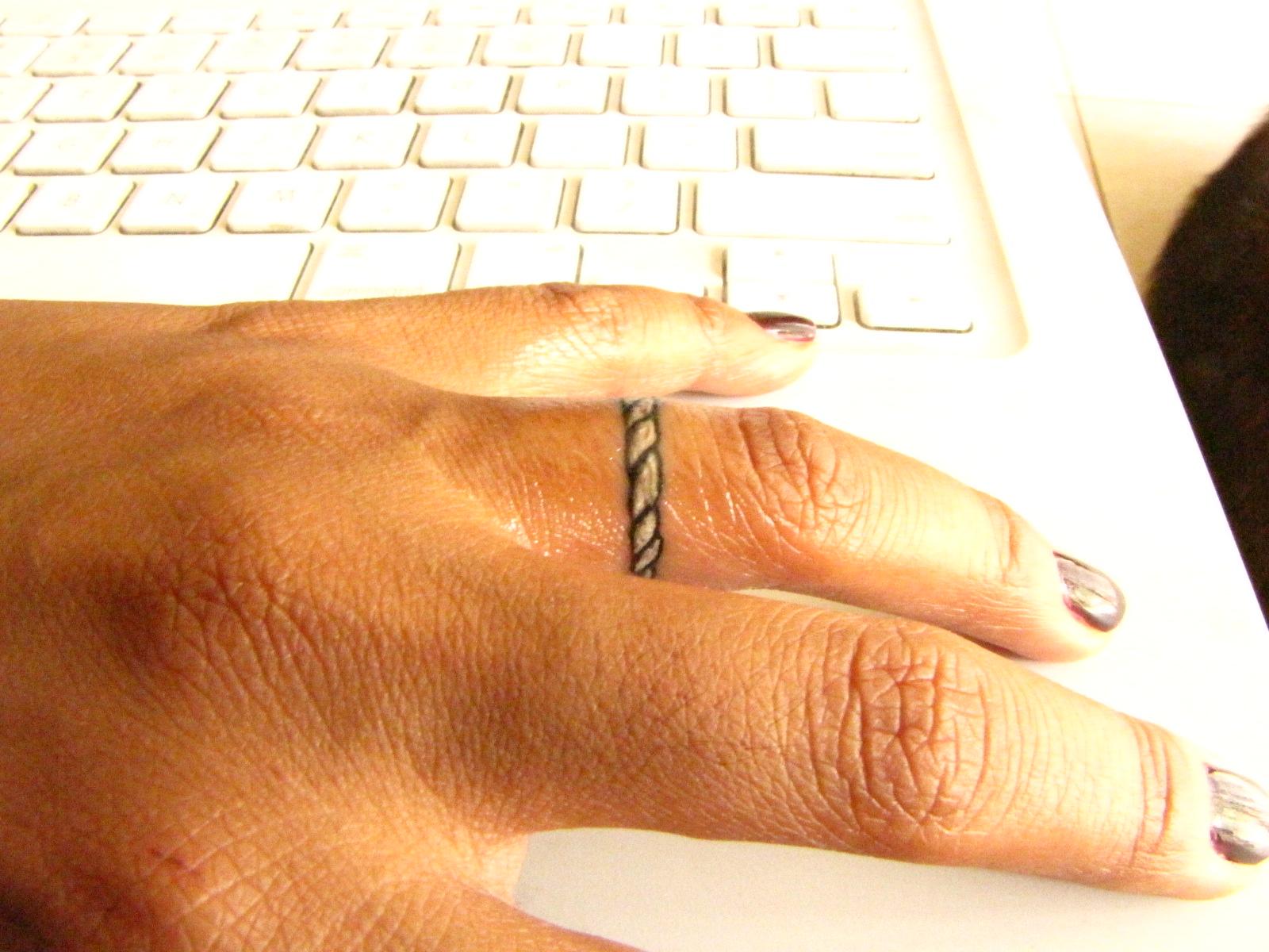 The story of leilani shawn wedding ring tattoos 2 for Wedding ring tatoos