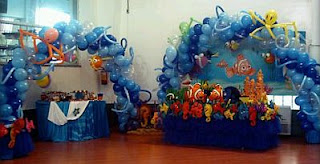 Children parties, Nemo decorations
