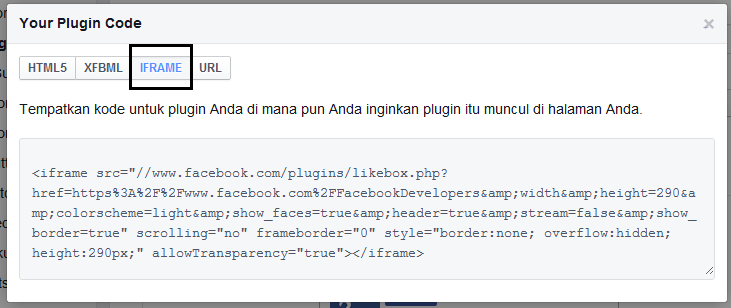 cara pasang fans page fb di blog