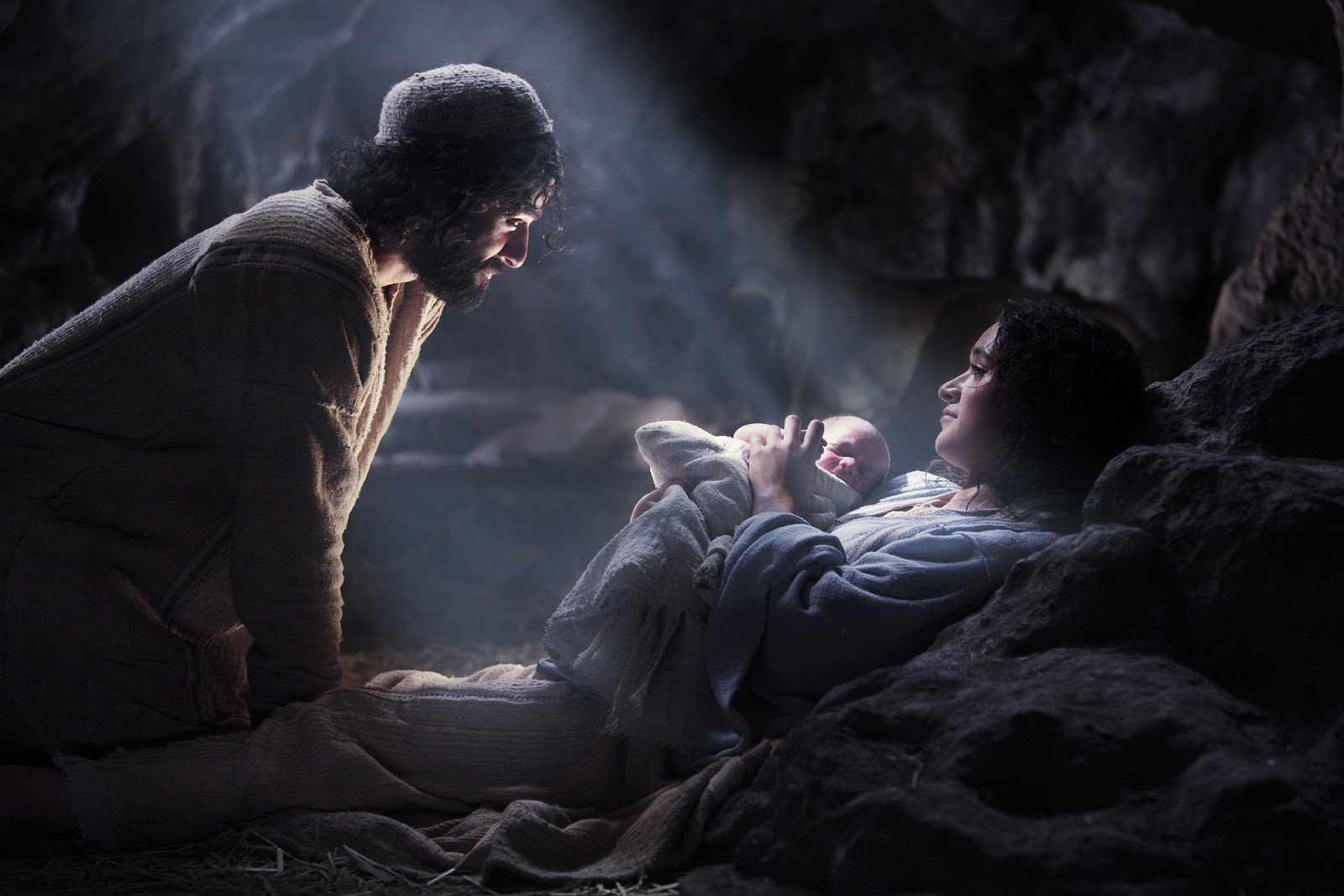 God sent His Son when we did not care.  He sent Him to save us.  Rejoice.