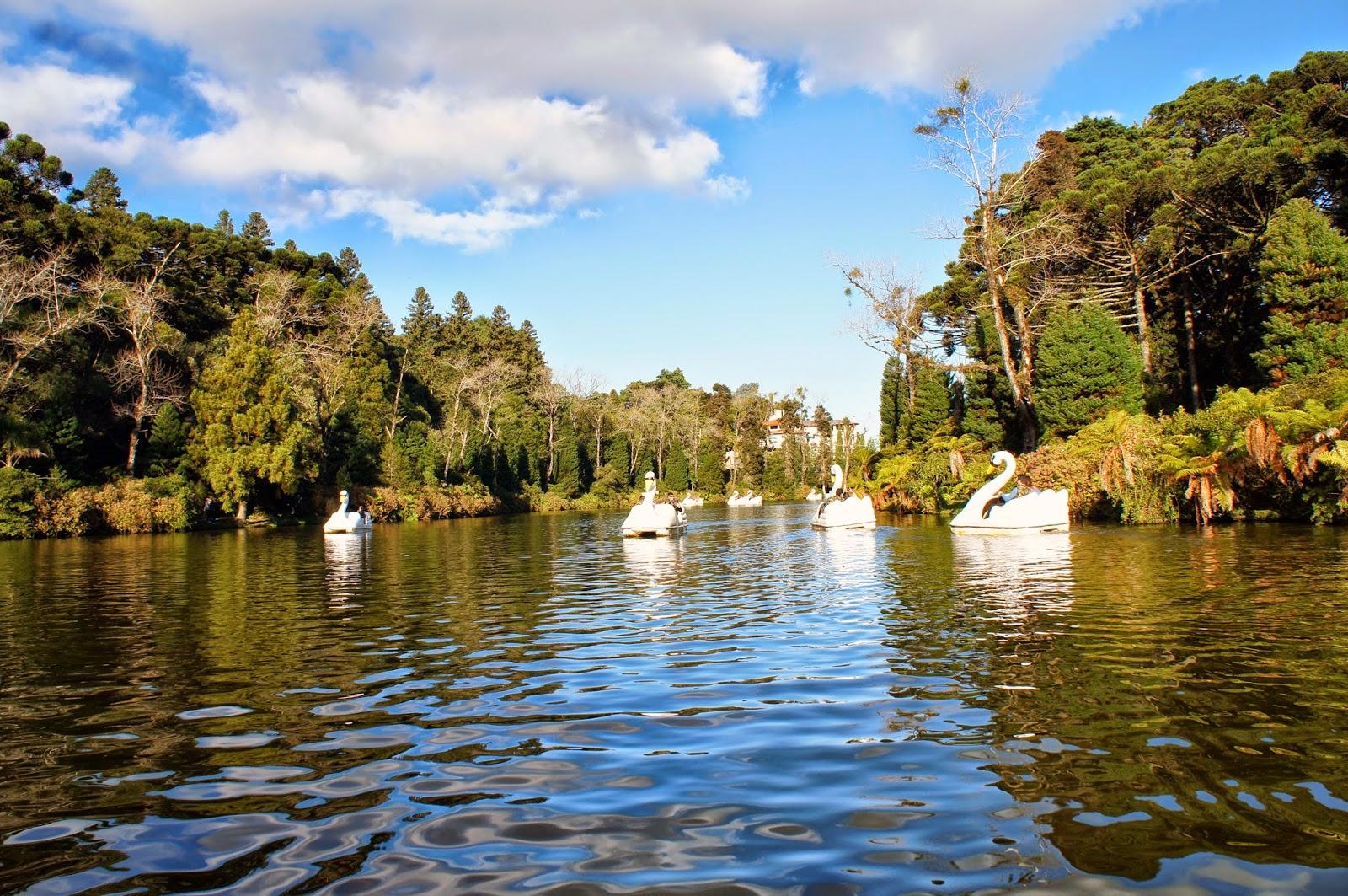 Pedalinhos no Lago Negro de Gramado