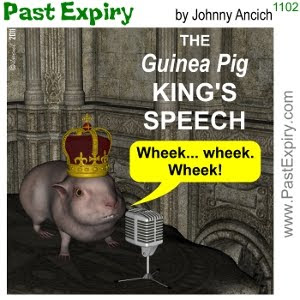[CARTOON] The King's Speech. cartoon, animals, British, movie, spoof,