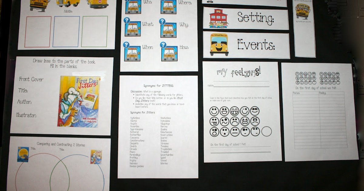 Classroom Freebies First Day Jitters Packet – First Day Jitters Worksheets