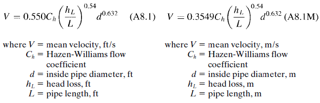 empirical flow formula