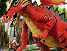 One of the many LEGOLAND dinosaur constructs around the theme park!
