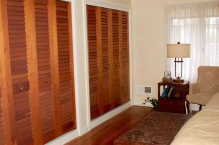 This Louvered Bifold Closet Doors Are The Ideal Method For Your Area Made With Wooden Top