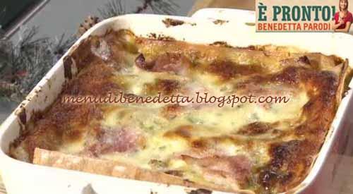 Lasagne al pistacchio ricetta Benedetta Parodi