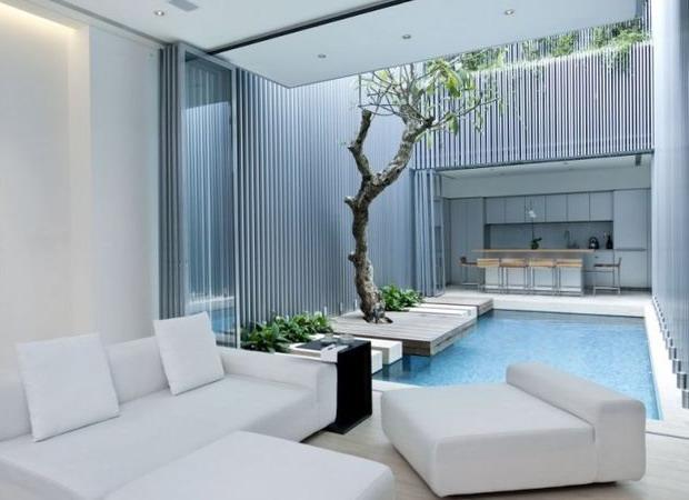 kolam renang rumah minimalis indoor