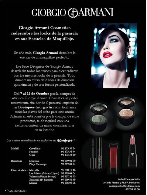 Escuelas de Maquillaje de Giorgio Armani