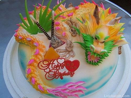 Hình ảnh bánh sinh nhật hình con rồng