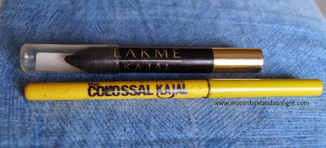 Lakme Kajal VS Maybelline Colossal Kajal || Indian Drugstore Kajal Comparison