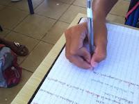 écriture cursive scolaire