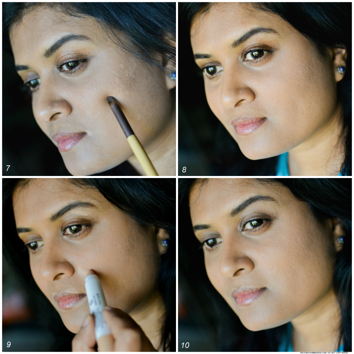 Makeup tutorial - How to Use Apply Concealers to Cover Blemishes Indian Skin - Steps