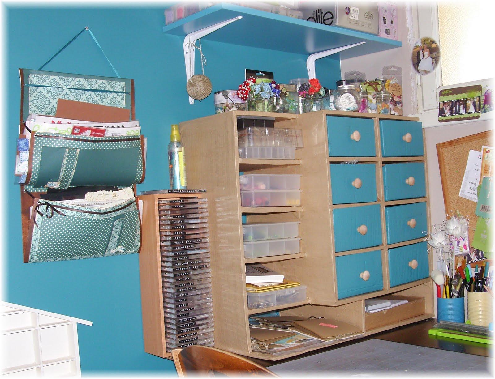 Meuble en carton jujumatth creation for Creation meuble carton