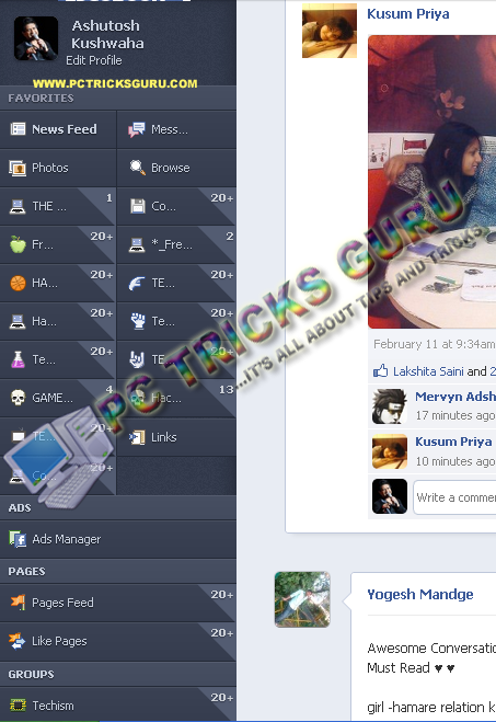 new facebook sidebar