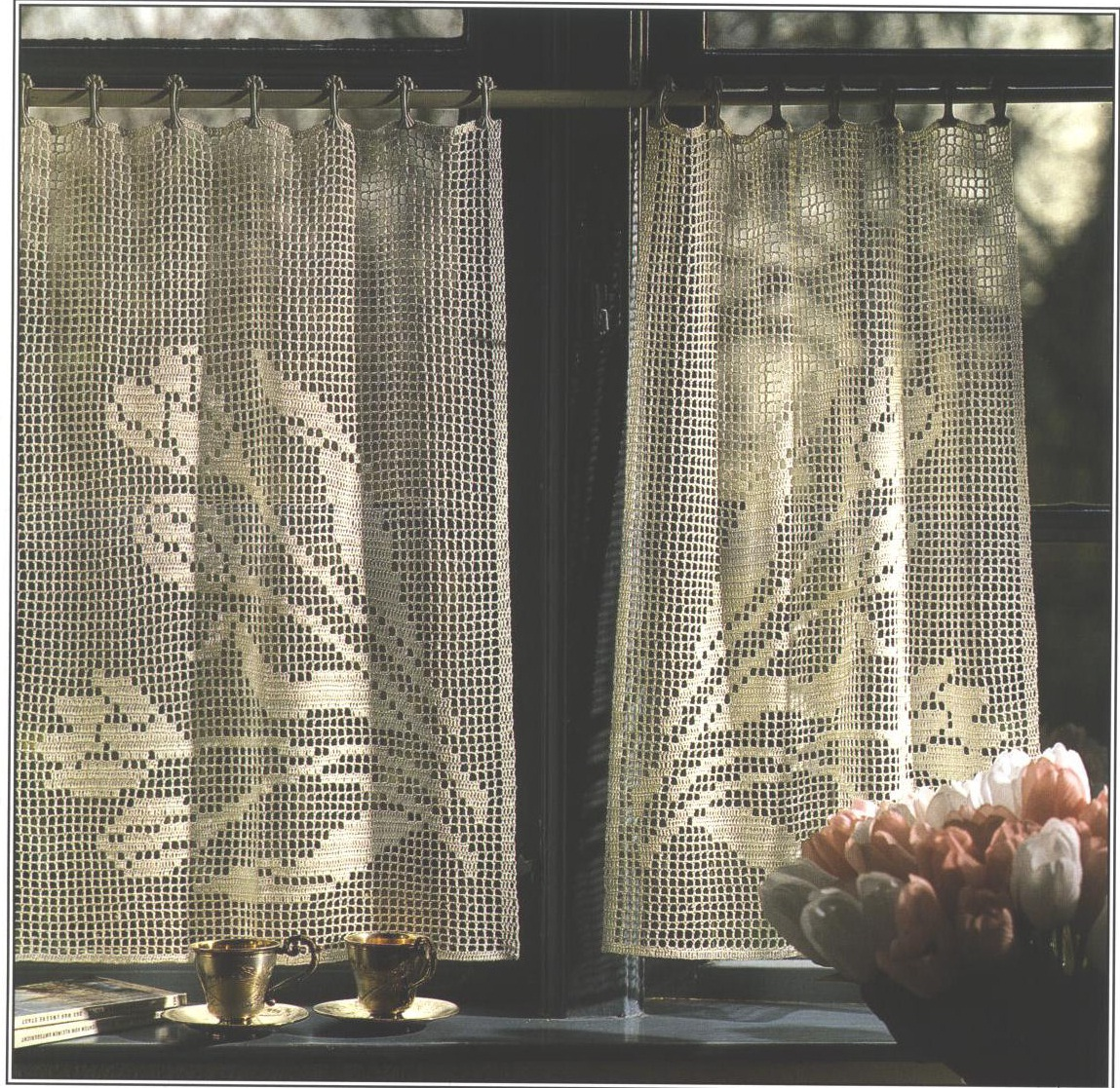 Crocheted Curtains - Sue's Crochet and Knitting - Supplies, Yarn