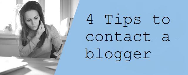 contact blogger