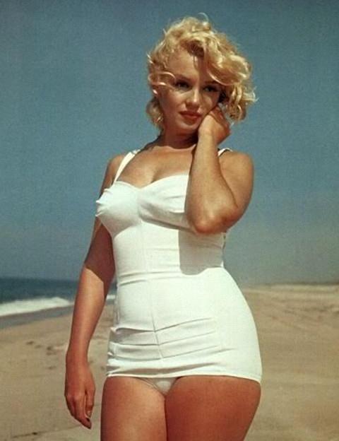 Marilyn Monroe i badedragt