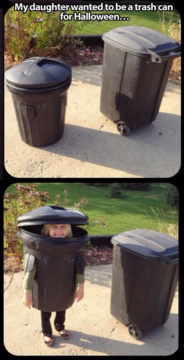 Trash Can Halloween Costume