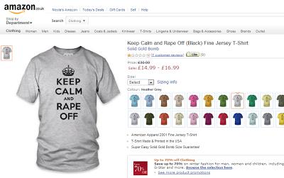 keep calm and rape off, t-shirt, amazon uk