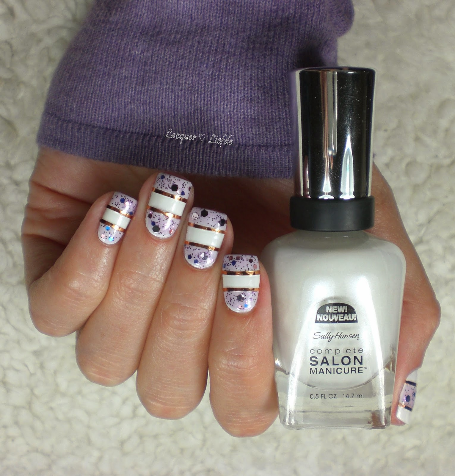 Sally Hansen 171 Bleach Babe with Confetti Cake 590