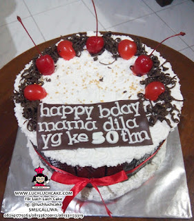 Kue Tart Blackforest Birthday Cake