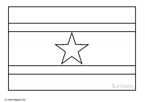 LAMINAS PARA COLOREAR - COLORING PAGES: Mapa y Bandera de Surinam ...