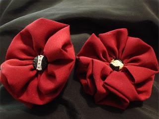 folded gathered fabric flower