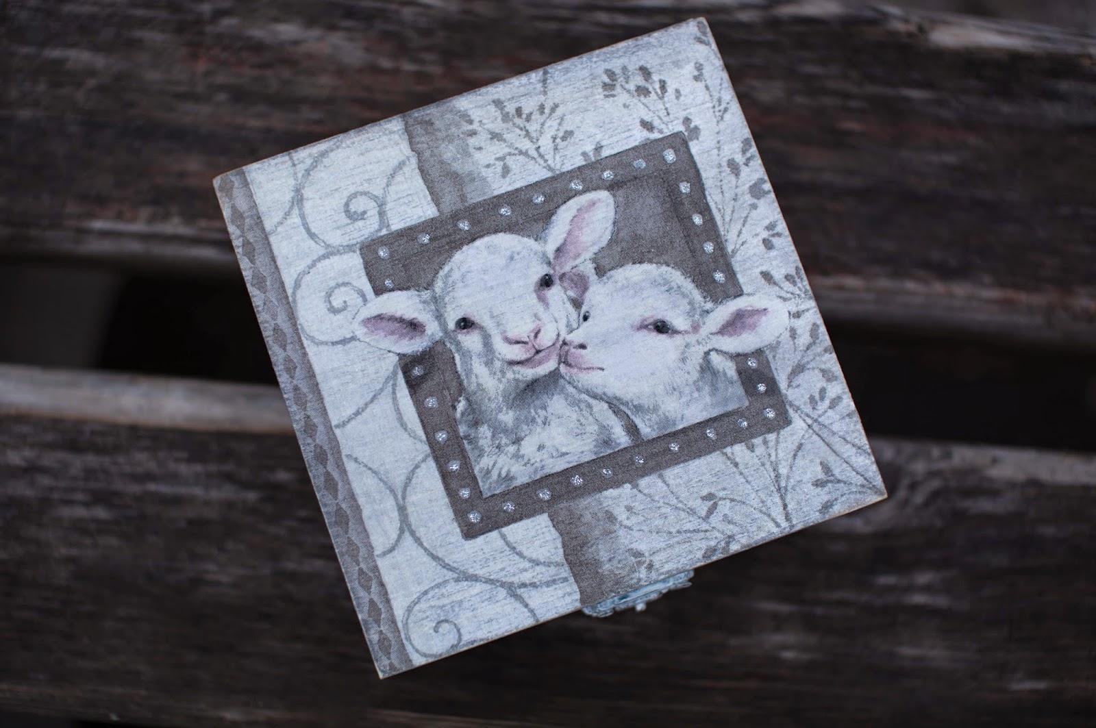 подарок с овечками, веточки, глазки, овечки к новому году, как сделать овечку
