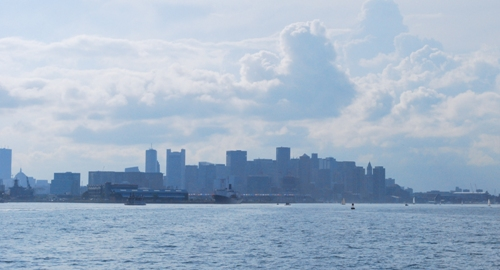 Boston skyline from a boat