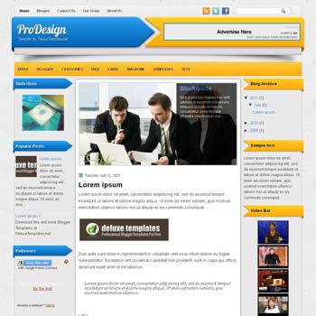 ProDesign blogger template. template blogspot magazine style. download free template magazine blogger. download blogger template 3 column
