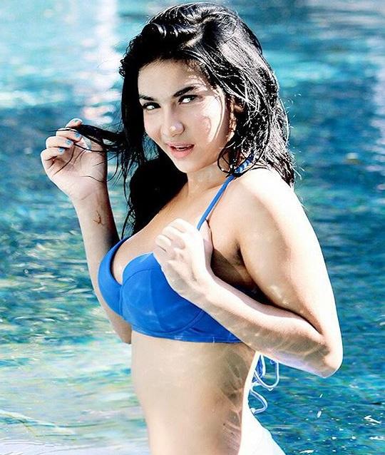 hot bikini pool party siva aprilia photoshoot model