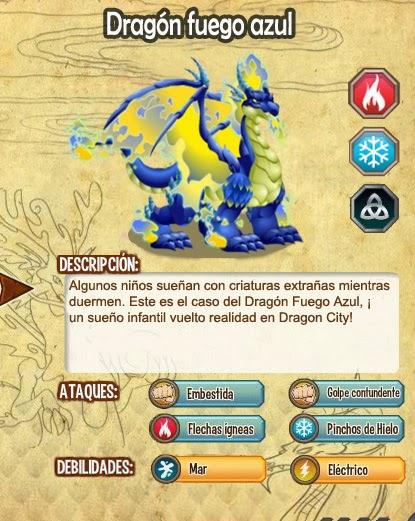 imagen del dragon fuego azul