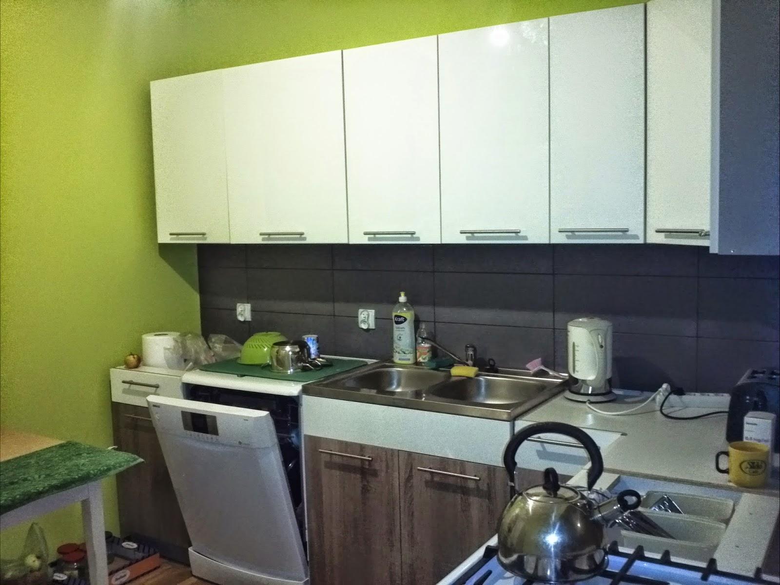 meble kuchenne, andrex, wystrój kuchni, zielono, szaro, biało