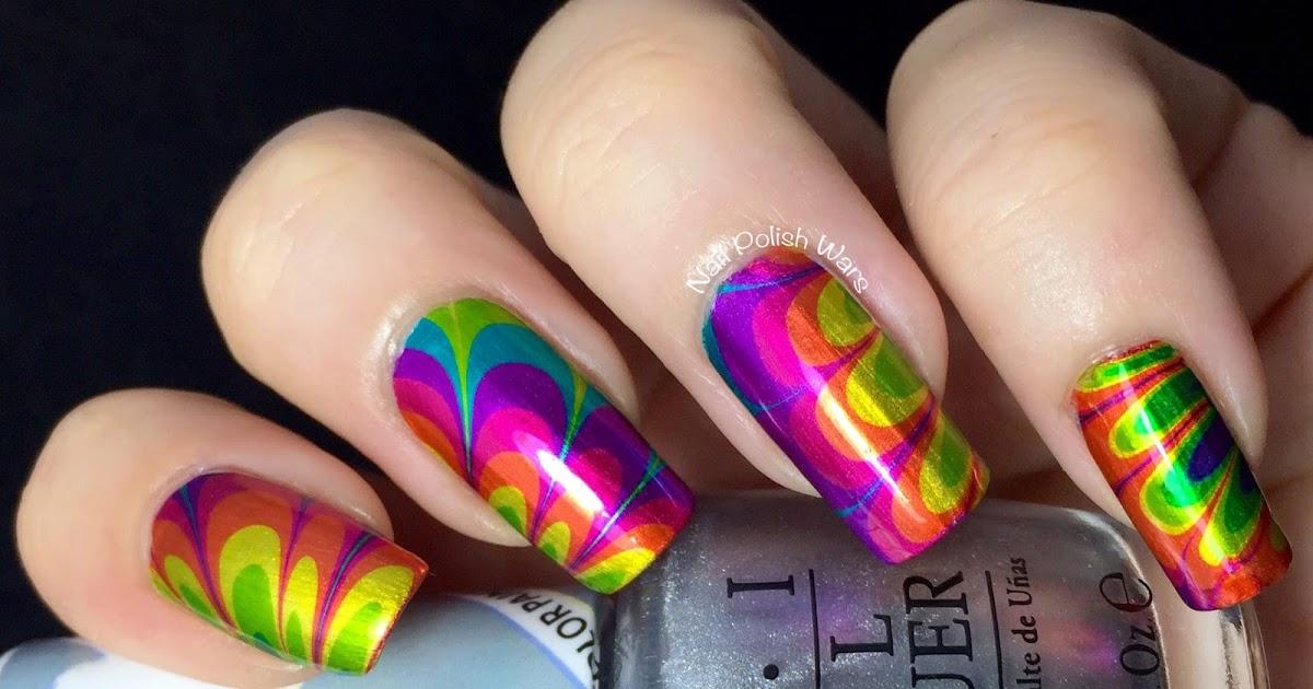 nail polish wars tie dye marble