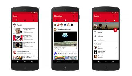 تطبيق يوتيوب الجديد الخاص بالهواتف الذكية يأتي يثلاث تبويبات جديدة تسهل على المستخدمين مشاهدة و تحميل مقاطع الفيديو