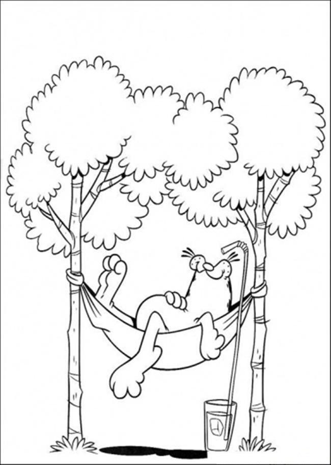 Desenhos para colorir do Garfield - imagens para colorir garfield