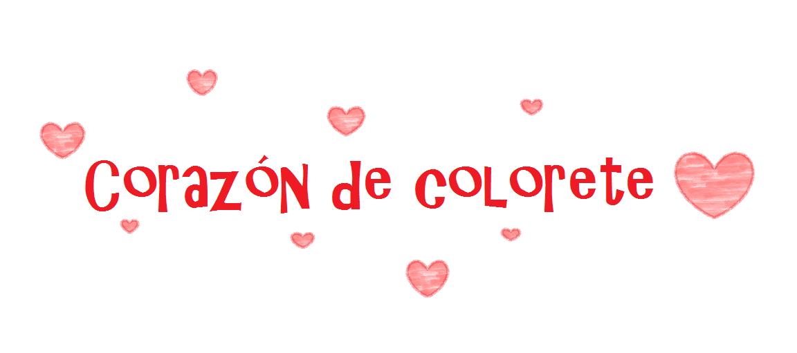 Corazón de colorete