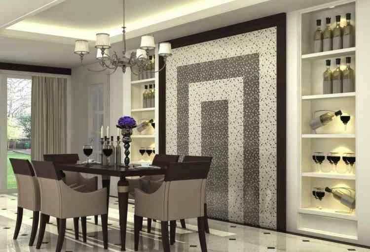 15 cool dining room wall decor ideas for special diner for Dining room 3d wall art