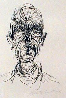Dibujo de Giacometti