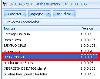 Opus Planet 010 Administrador de bases de datos