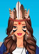 Индианка Покахонтас - Онлайн игра для девочек