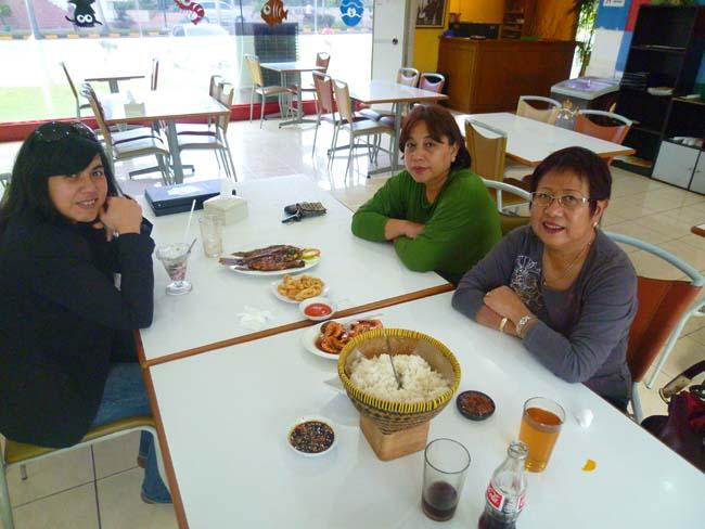 Comiendo en el restaurante