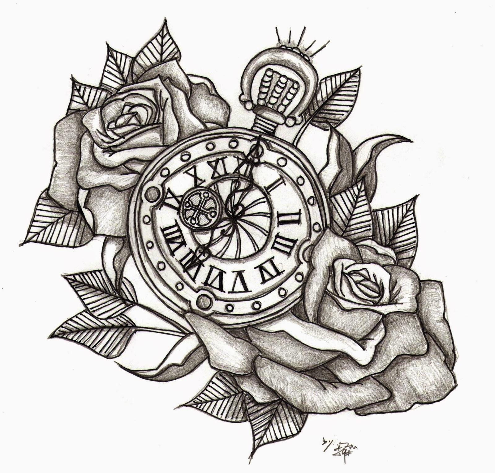 Reloj de bolsillo con Rosas
