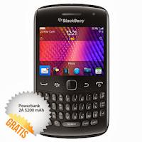 Harga HandPhone Blackberry Apollo 9360 - 512 MB - Hitam + Powerbank 2A 5200 mAh